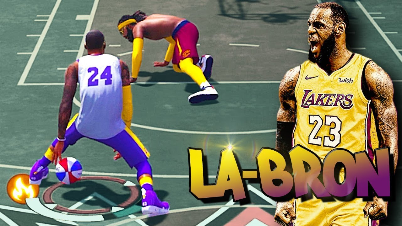 LeBron James Build in LA at The Park Breaking ANKLES & Getting POSTERS? - NBA 2K18 3v3
