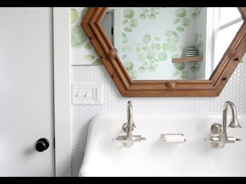 DIY HOME Bathroom Makeover With Removable Smart Tile YouTube - Cosmetic bathroom makeover