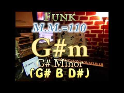 g#m minor (g# b d#) one chord backing track - funk m.m.=110
