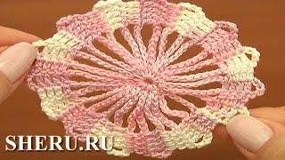 Brugge Crochet Motif Урок 2 Мотив в технике брюггского кружева