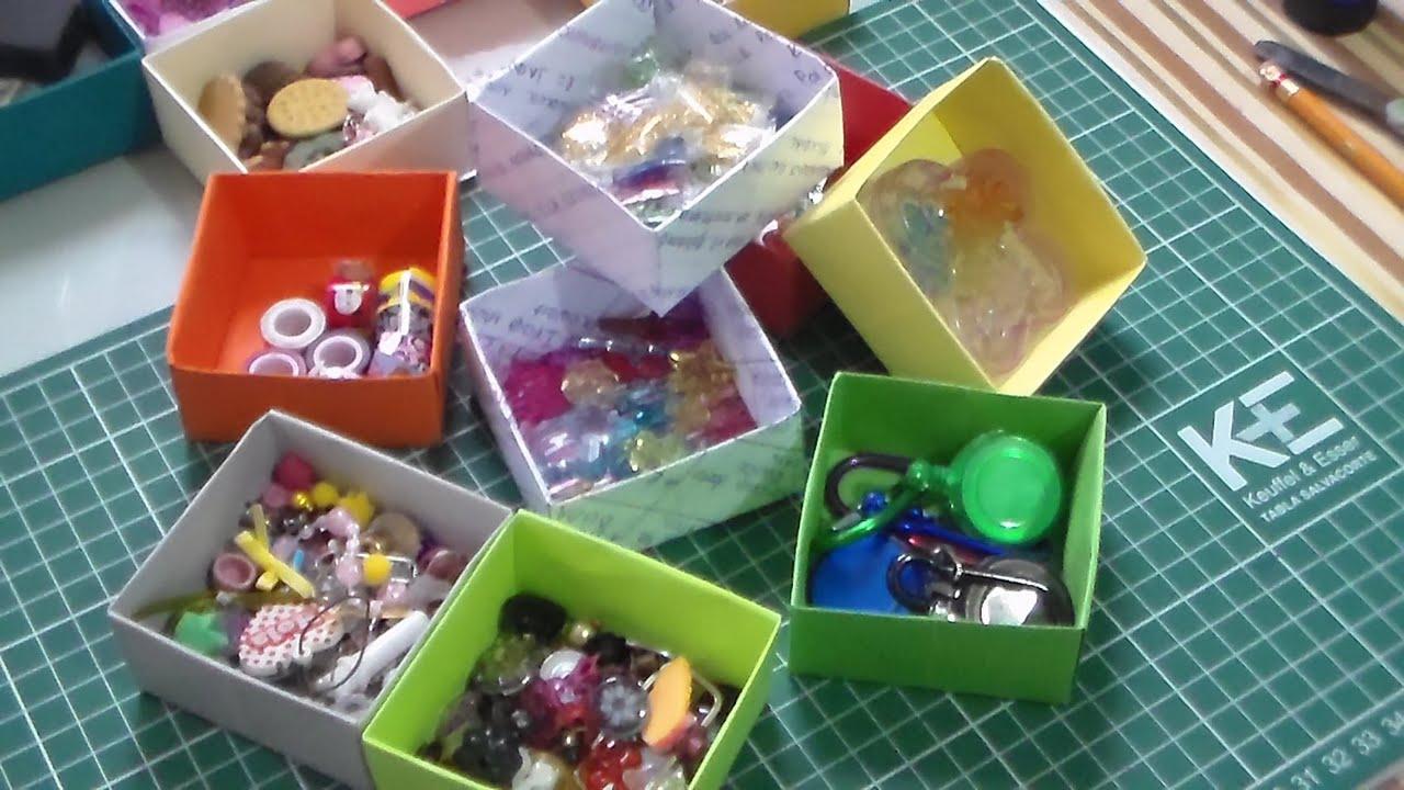 Cajitas con hojas de colores y hojas recicladas - YouTube
