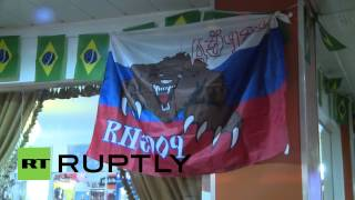Brazil: Russian fans party in the streets of Curitiba despite draw