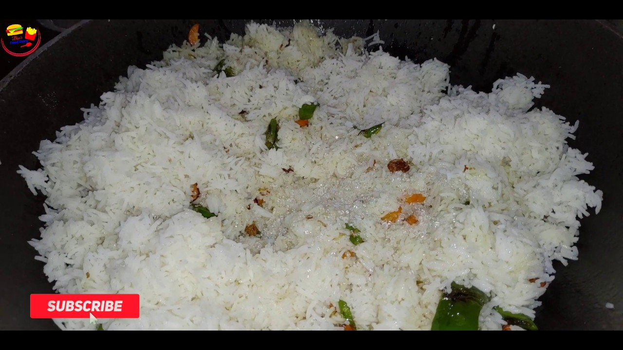 Fried Rice   কি ভাবে তৈরি করবেন ঝরঝরে ফ্রাইড রাইস   Bengali spacial recipe   Veg Fried Rice