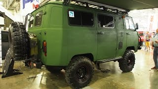 UAZ 2206 Buhanka 4x4 Offroad Tuning -  Exterior Walkaround - Moscow Offroad Show 2015