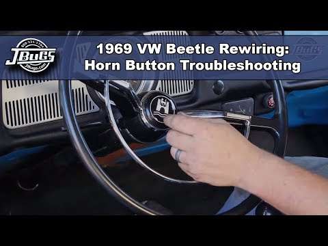 JBugs - 1969 VW Beetle Rewiring - Horn Button Troubleshooting - YouTubeYouTube
