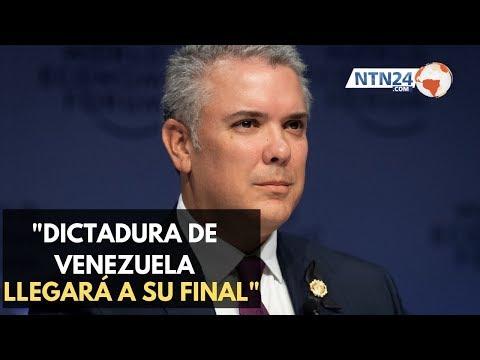 """Duque: """"la noche de la dictadura en Venezuela no será eterna y ya llegó a su final"""""""