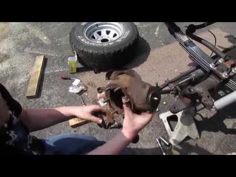 Installing A New Knuckle On The K10 -----The Front-End Escapade-----