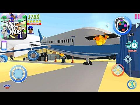 Dude Theft Wars: Open World Sandbox - Military Base Airplane Crash | Android Gameplay HD