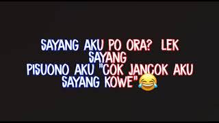 Story WA DJ HANING LAGU DAYAK Bahasa Jawa