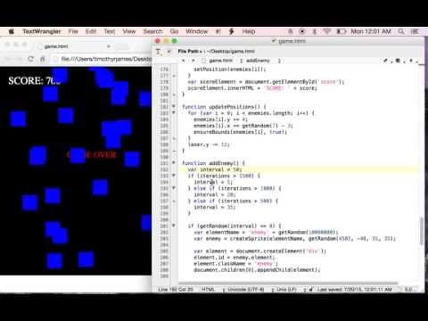 Learning HTML And JavaScript With A Simple Shooting Game: Lesson 7