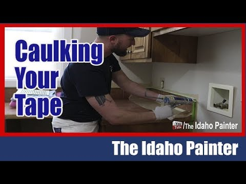 PERFECT lines with caulking and tape.