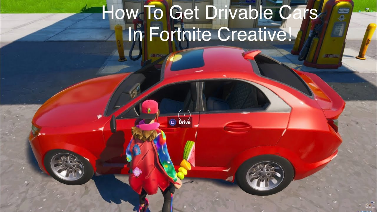 How To Make Drivable Cars In Fortnite Creative Using Atk S And Quadcrasher S Youtube