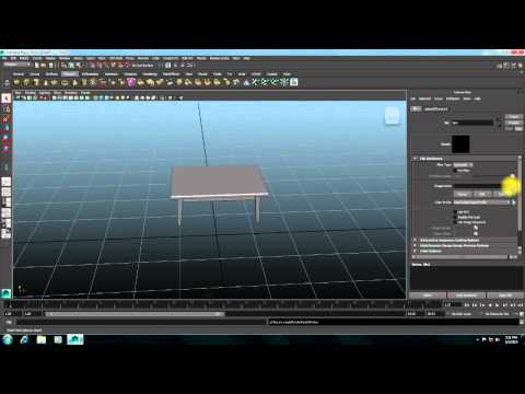 How To Make Simple Table Using Autodesk Maya 2014