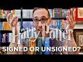 HARRY POTTER SLIPCASE EDITIONS: Are they signed by J.K. Rowling? PLUS unboxing a RARE German book!