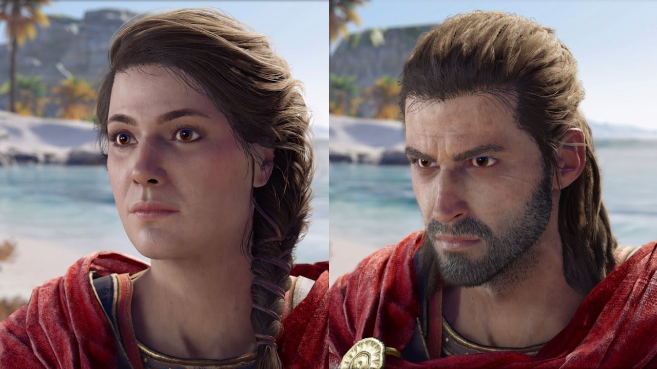 assassin s creed odyssey male female character comparison youtube