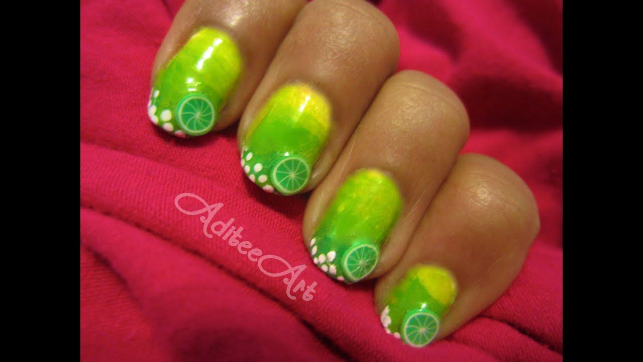 Margarita Nails!!! - YouTube
