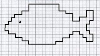 Рыбка (графический диктант по клеточкам), рисуем по клеточкам рыбу