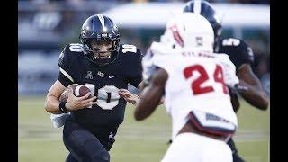 2018 American Football Highlights - #16 UCF 56, FAU 36