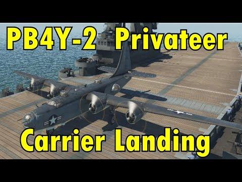 PB4Y-2 Privateer Carrier Landing