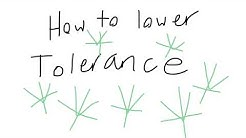How to lower your tolerance
