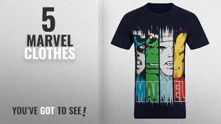 Top 10 Marvel Clothes [2018]: Marvel Comics Official Gift Mens Character T-Shirt Iron Man Thor