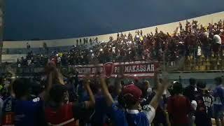Sambutan Aremania terhadap suporter PSM Makassar