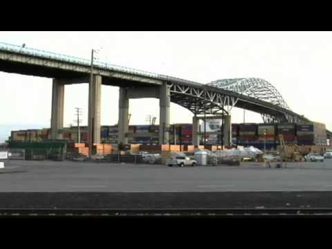 Buildings demolished for Long Beach bridge - 2013-12-13