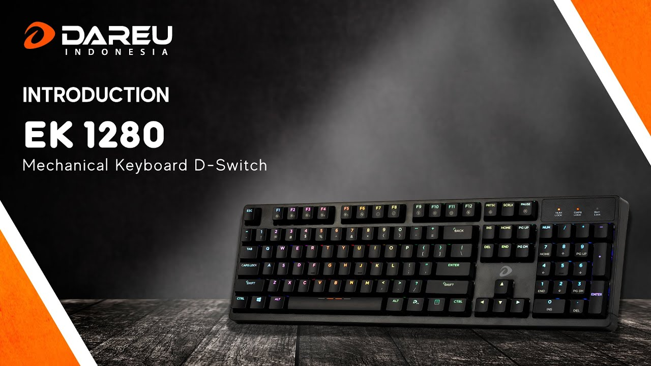 DAREU MECHANICAL KEYBOARD EK-1280 WITH 3 SWITCH   Gaming Keyboard