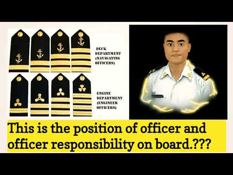 What are the ranks of officers on board and responsibilities??