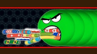 Wormate.io Big Monster Worm Vs Tiny Bad Invasion Worms Hack? Wormateio Epic Troll Gameplay