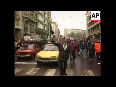 Serbia - Students protest against Milosevic