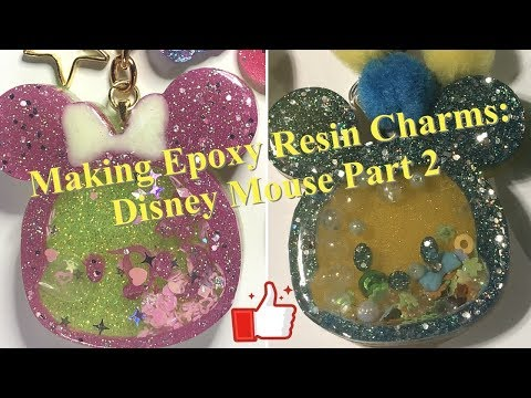 Making Epoxy Resin Charms: Disney Mouse Part 2