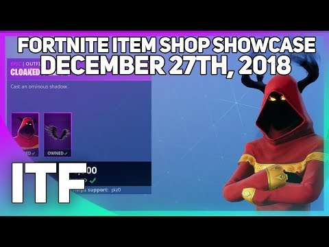 Fortnite Item Shop *NEW* CLOAKED SHADOW SKIN! [December 27th, 2018] (Fortnite Battle Royale)