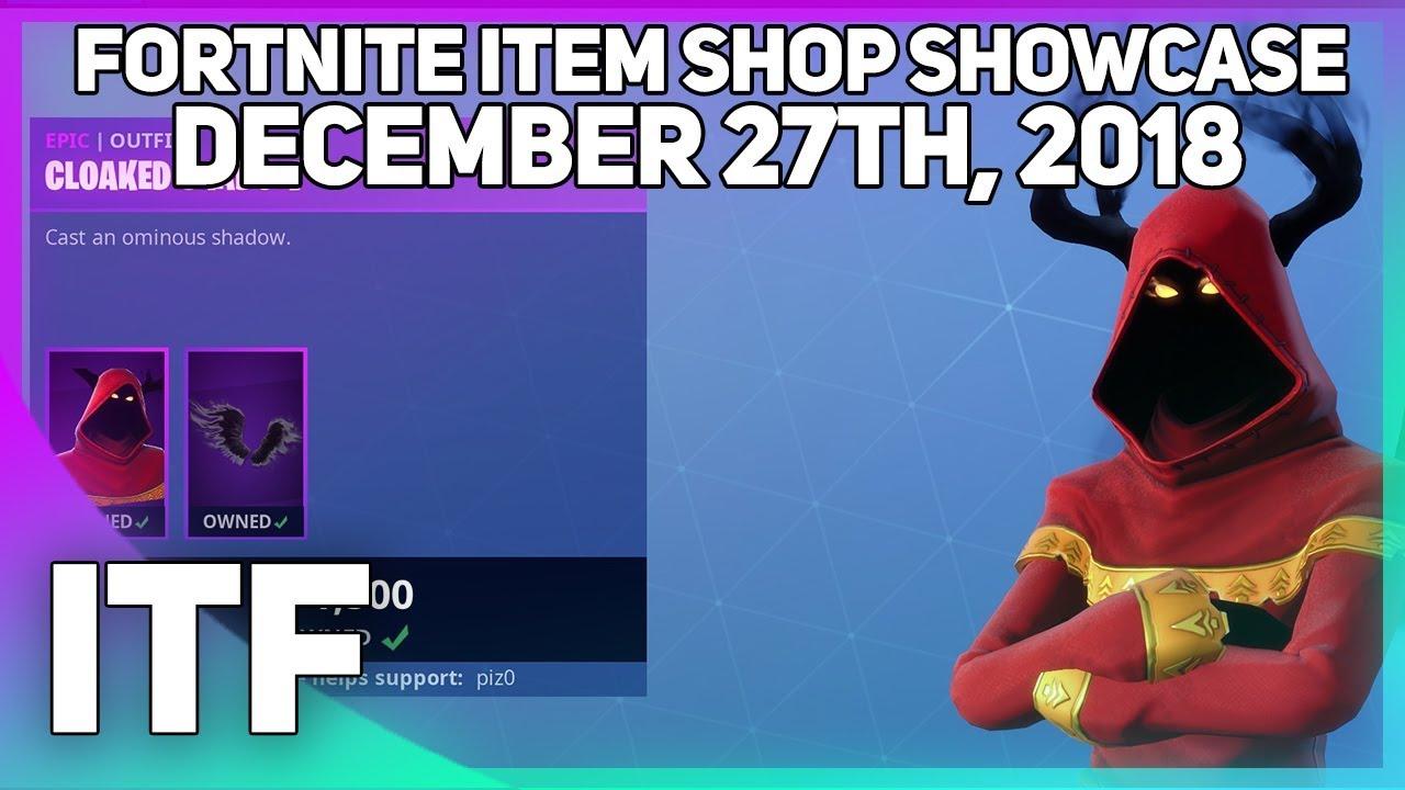 Fortnite Item Shop *NEW* CLOAKED SHADOW SKIN! [December 27th, 2018] (Fortnite Battle Royale)