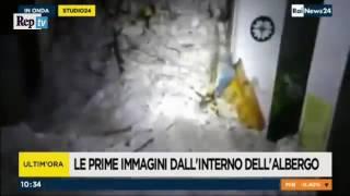 avalanche mortal na Itália Hotel Rigopiano, primeiras fotos do interior