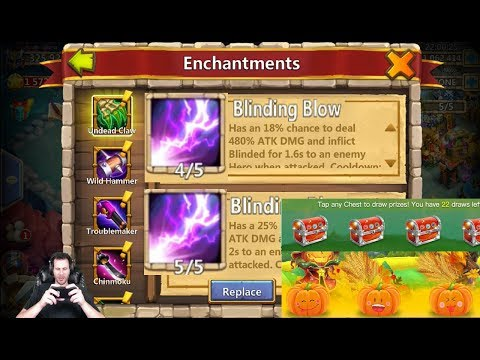 JT's Main Lucky Events Enchant Talent Rolling Castle Clash