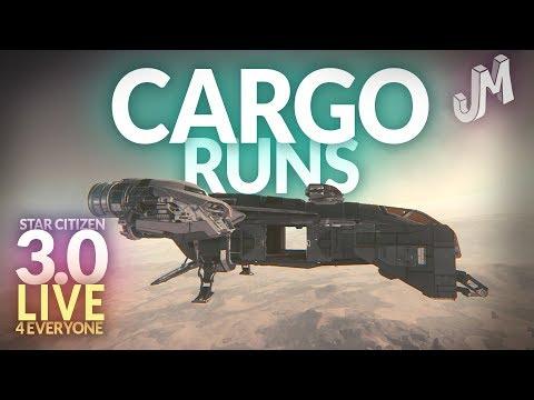 Star Citizen 3.0 🌎  CARGO RUNS LIVE 🎁 3.0 FOR EVERYONE