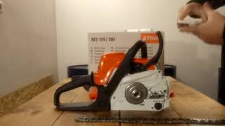 UNBOXING Chainsaw Stihl MS 180