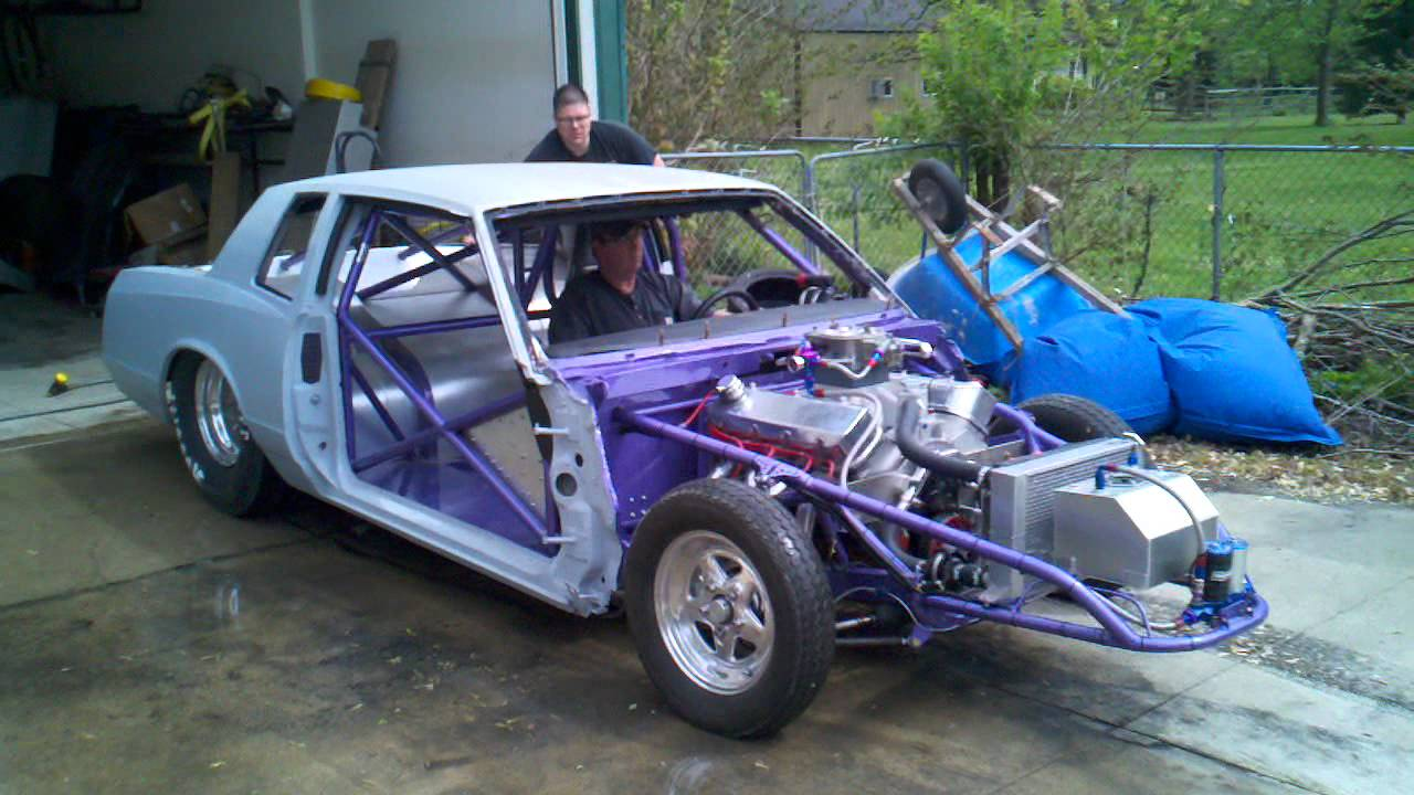 1987 Monte Carlo Ss Drag Car Burnout Youtube