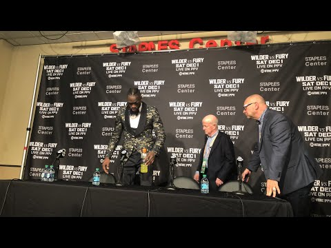 [LIVE] DEONTAY WILDER REACTS TO THE DRAW VS. TYSON FURY [POST FIGHT PRESS CONFERENCE)