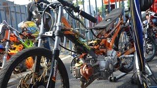 vuclip AHRS Drag Bike Jupiter TU 200 cc Pells King drag championship  AHRS  series 4 bantul