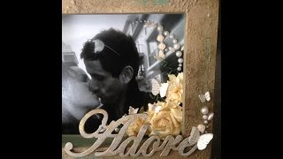 "Altered Wood Picture Frame ""...adore..."""