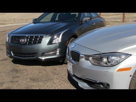 Cadillac ATS 2.0T vs BMW 335i Mashup 0-60 MPH Performance Test