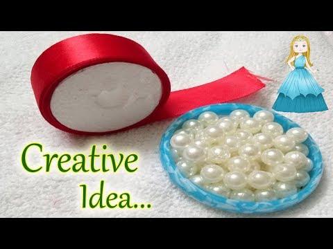 DIY || Ribbon necklace || Ribbon art || how to make satin ribbon flower || Jewellery Makings