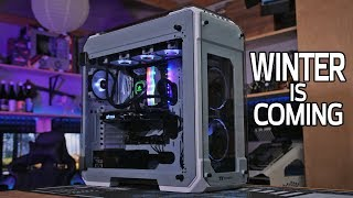 Building an EPIC GAMING PC in the Thermaltake View71 Snow Edition!