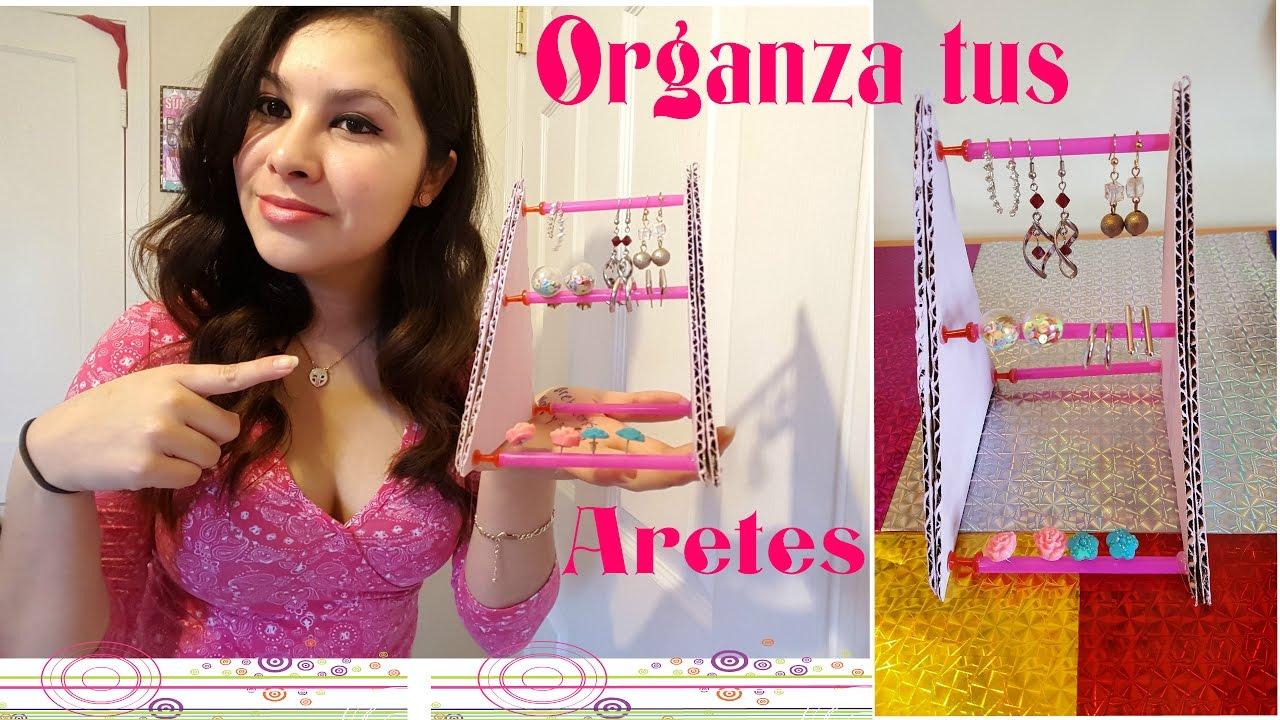 Como hacer un organizador para aretes(2 ideas) youtube.