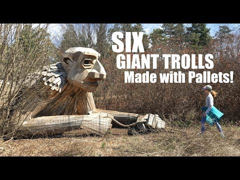 6 GIANT TROLLS- monsters made from pallet wood! (Chicago)- Free family fun trips