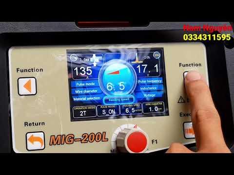 Máy hàn Mig OKY màn hình LCD MIG – 200L công nghệ mới || Hàn khung cửa nhôm tại VIỆT NAM.