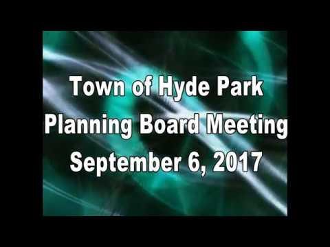 Hyde Park Planning Board 9-6-17