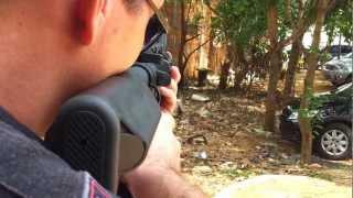 Gleydson e Francisco Testando  Fuzil M4 para Airsoft Palmas TO